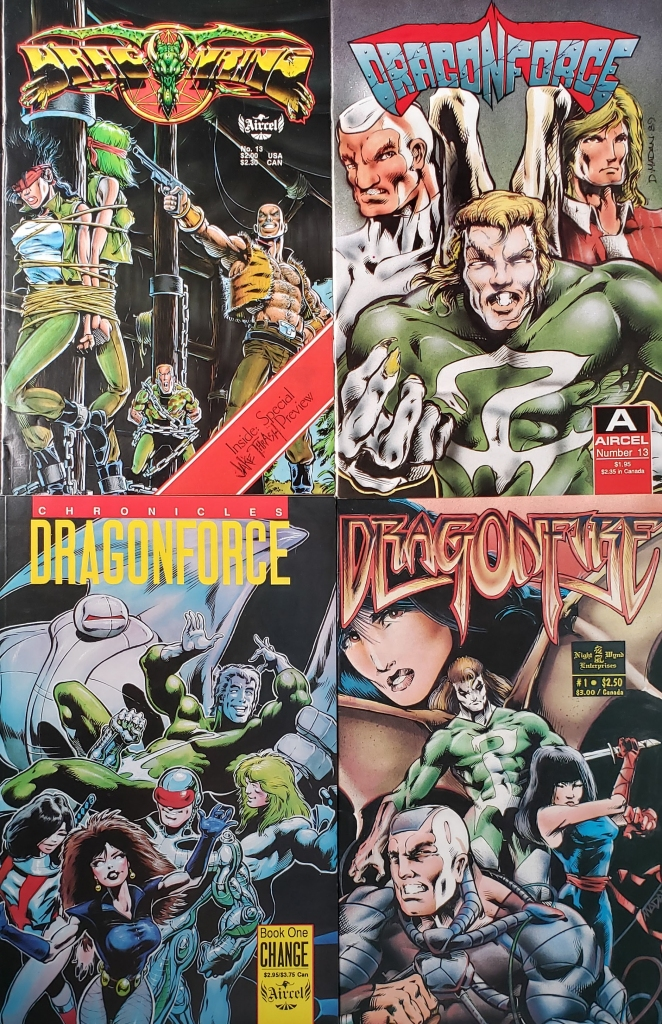 Covers of comic books illustrated by Dale Keown