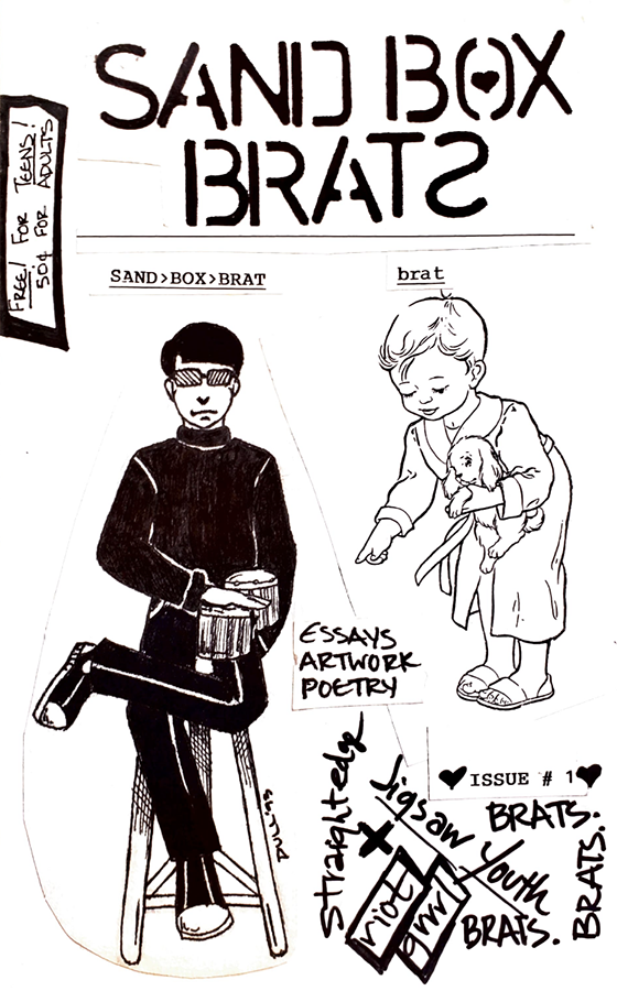 Sand Box Brat zine cover