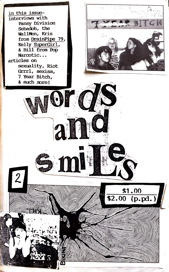 Words and Smiles zine 2 cover