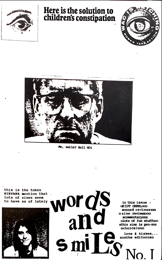 Words and Smiles zine 1 cover